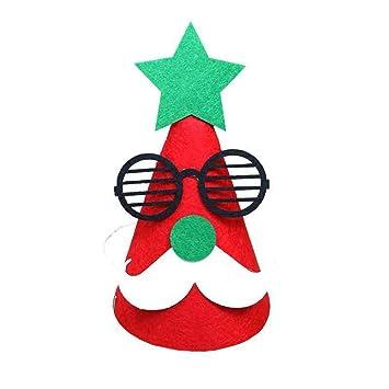 DYEWD Sombrero de muñeco de Nieve de Santa DIY de Dibujos Animados ... e5470adc9a4