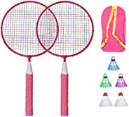 LIOOBO Badminton Racket Set Sports Badminton Racquet with Ball Bag Badminton Playing Toy for Children Kids