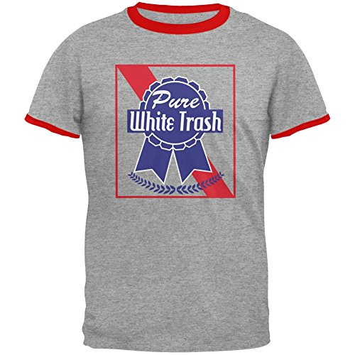 Old Glory 4th of July Pure White Trash Heather/Red Men