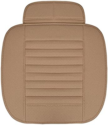 Cubierta de asiento de coche - Cojín de cojín de asiento de cojín de asiento de cojín de asiento de carbono de bambú de poliuretano para silla de ...