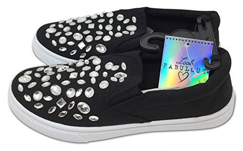 Look Sneaker Fabulous Fabulous Donna Black Donna Sneaker Look Black qwd1fd