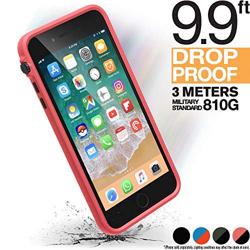 iPhone 8 Plus Case Shock Proof Impact Protection by Catalyst, with Wrist Strap Lanyard Rugged Apple Phone case [iPhone 7 Plus Great fit, Wireless Charging, Drop Protective, Mute Switch - Coral
