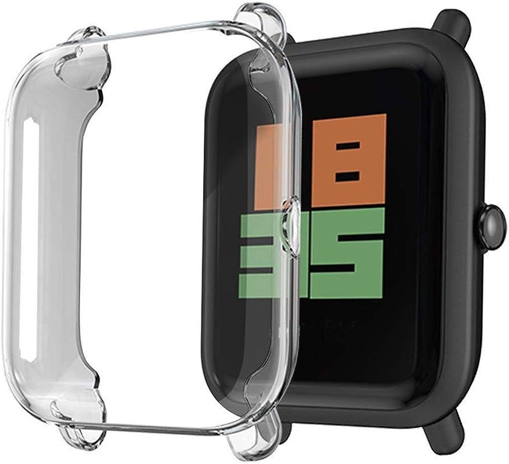 Coque de rechange pour Xiaomi Huami Amazfit bip 1S Bip S Watch Film de protection d'écran en TPU Protection de protection d'écran Transparent