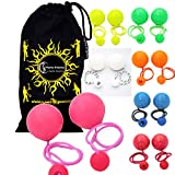 Play Contact Poi - STANDARD - Pro Contact Poi Pair + Travel Bag! Perfect Pois For Contact Spinning (Pink)