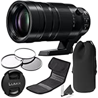 PANASONIC LUMIX G LEICA DG VARIO-ELMAR PROFESSIONAL LENS, 100-400MM, F4.0-6.3 ASPH., MIRRORLESS MICRO FOUR THIRDS, POWER OPTICAL I.S., H-RS100400 PRO BUNDLE