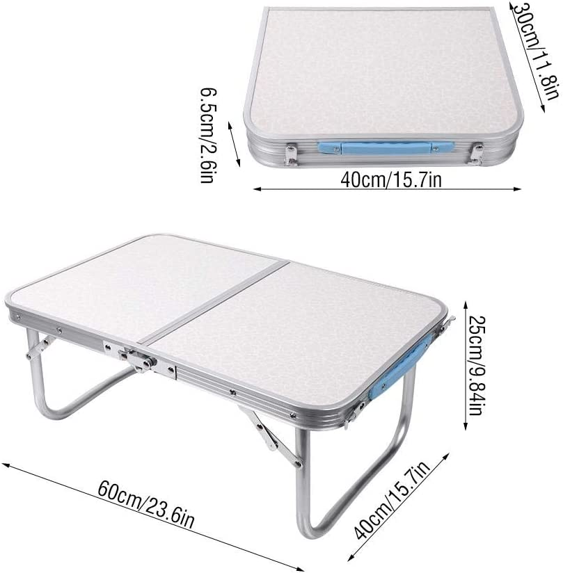 AYNEFY Folding Camping Table Aluminum Alloy Portable Easy to Assemble Folding Table for Outdoor Camping Picnic
