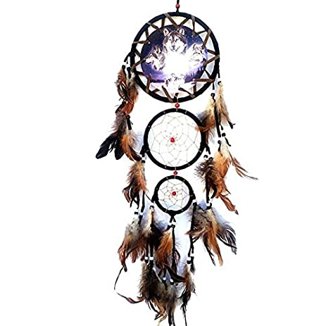 Amazon Handmade Dream Catcher Wolf Head Indian Style For Car Inspiration Wolf Head Dream Catcher