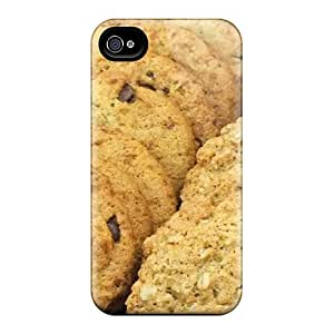 Durable Defender Case For Iphone 4/4s Tpu Cover(chocolate Chip Oatmeal Cookies)