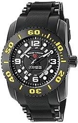 Swiss Legend Men's 'Commander Pro' Swiss Quartz Stainless Steel Casual Watch (Model: 10069-BB-01-YA)