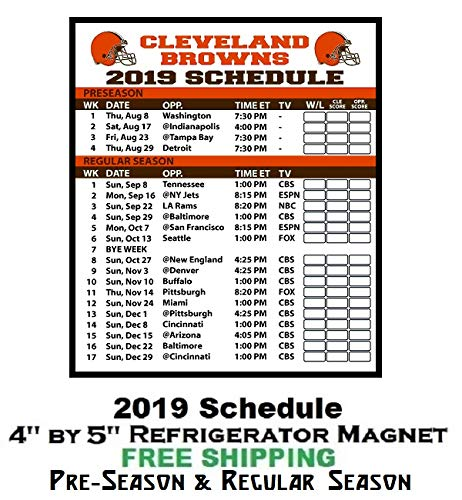 photo relating to Cleveland Browns Printable Schedule identify : Cleveland Browns NFL Soccer 2019 Comprehensive Period