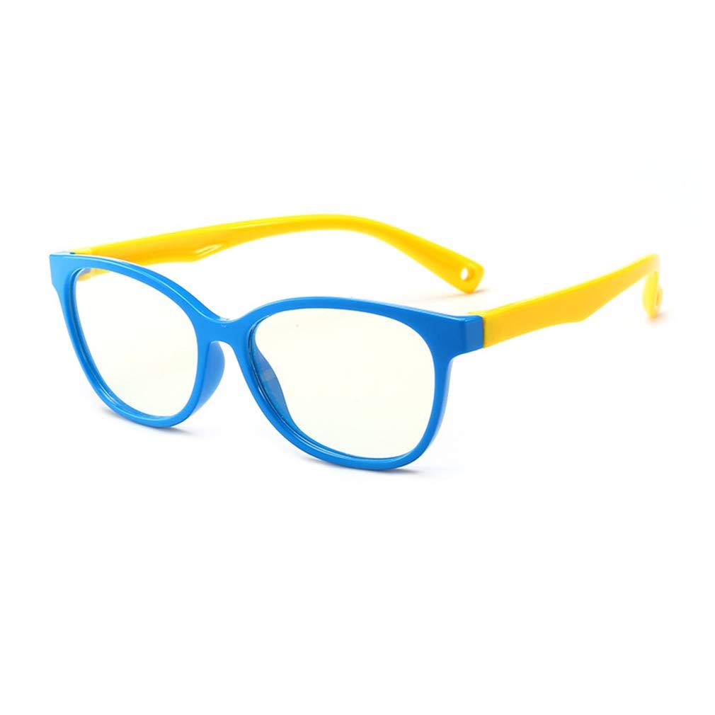 Hibote Mädchen Jungen Anti Blaulicht Brillen - Silikon - Klare Linse Gläser Rahmen Geek/Nerd Brillen mit Auto Form Brillenetui - 18083005 hibote network technology Co. Ltd X180830ETYJJ0506-X
