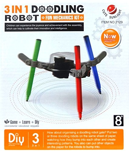 3 In 1 Doodling Robot DIY Kit Children Environmental Science Education Drawing - Diy Power Rangers