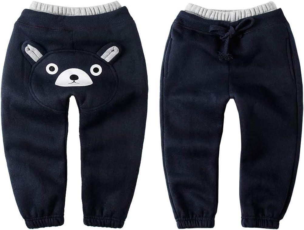 LittleSpring Boys Girls Cotton Pants Bear Drawstring Sweatpants
