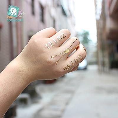 MMTX Temporal Impermeable Sello Caliente del Tatuaje Novia Brillo ...