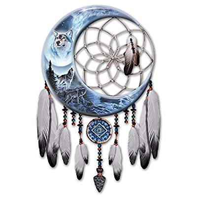 Al Agnew Wolf Art Dreamcatcher Wall D??cor Lights Up by The Bradford Exchange