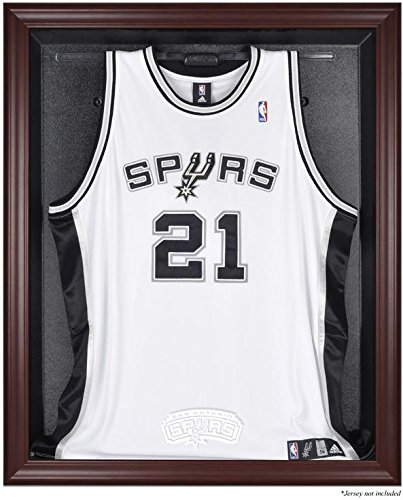 San Antonio Spurs Mahogany Finished Logo Jersey Display Case by Sports Memorabilia