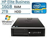 2016 Newest HP Elite Pro Series High Performance Business Desktop, Intel Core i5 up to 3.3GHz Quad-Core Processor, 16GB RAM, 2TB SATA HDD, Windows 7 Professional 64-Bit (Certified Refurbished)