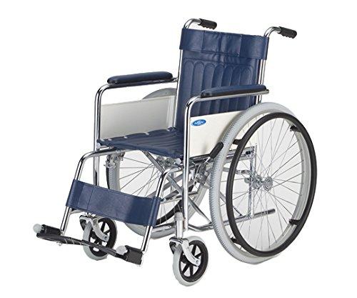【非課税】日進医療器 車椅子 (自走式/スチール製/ノーパンクタイヤ/スタンダードタイプ) / 8-4968-01 B00TDFYP1S