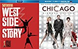 City Musicals The West Side Story + Diamond Chicago Blu Ray + DVD Set Movie Double Feature Bundle