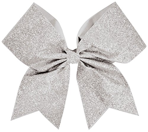 Glitter Performance Hair Bow Glitter Silver