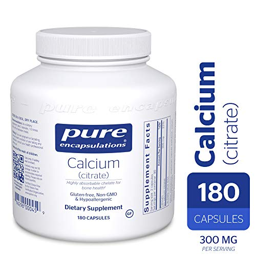 Pure Encapsulations – Calcium (Citrate) – Hypoallergenic, Highly-Absorbable Calcium Supplement – 180 Capsules For Sale