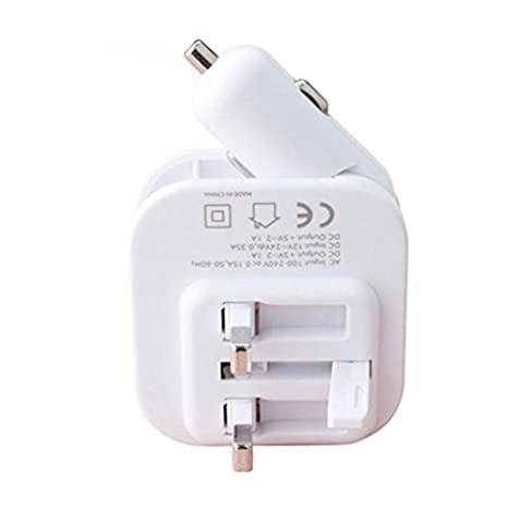 hjsj Dual USB coche cargador, 4,2 USB AC DC cargador de ...