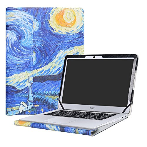 Alapmk Protective Case Cover For 14 Acer Chromebook 14 CB3-431 Series Laptop(Not fit ACER CHROMEBOOK 14 FOR WORK CP5-471 Series),Starry Night