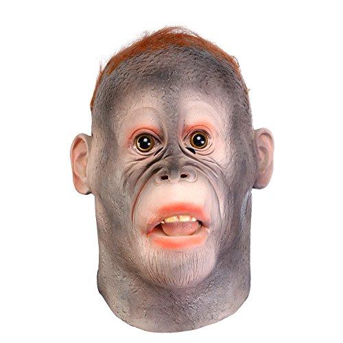 Full Details Monkey (WloveTravel Novelty Halloween Costume Party Animal Head Mask (Monkey Mask))