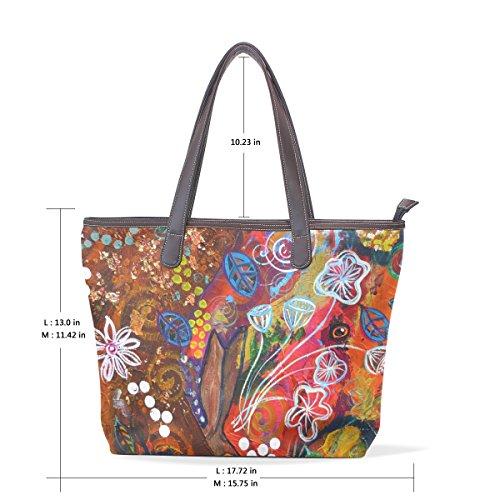Coosun De Bolso Mujer Tela Multicolor Para rCr4Rw