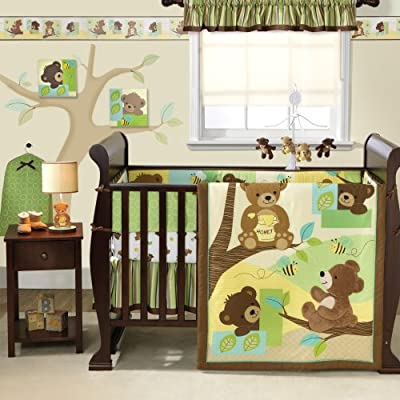 Bedtime Originals Honey Bear 3 Piece Crib Bedding Set Browngreen from Bedtime Originals