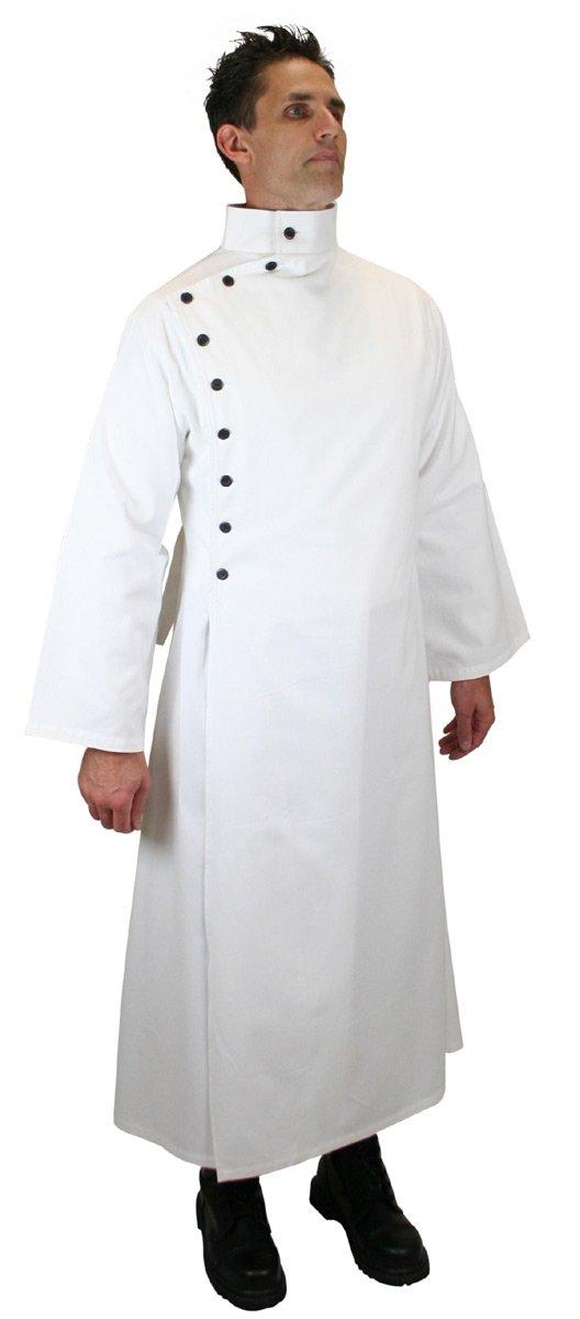 Historical Emporium Men's Cotton Twill Mad Scientist Howie Lab Coat XL/2X White by Historical Emporium (Image #2)