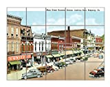 Main St Business Section, Ridgway, Pa Horizontal Tile Mural Satin Finish 24''Hx30''W 6 Inch Tile
