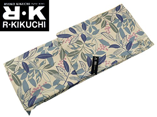 RK キクチリョウコ 袷 小紋 着物 フリーサイズ 渋黄白 pk-129