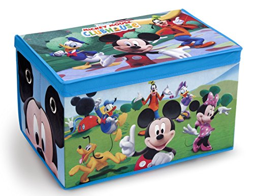 Delta Children Fabric Toy Box, Disney Mickey Mouse (Play Hamper)