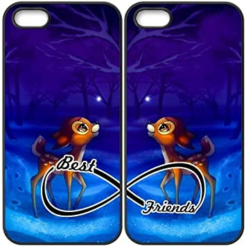 JiHuaiGu (TM) iPhone 5 5S coque Noir BFF Best Friends-Bambi Thème ...