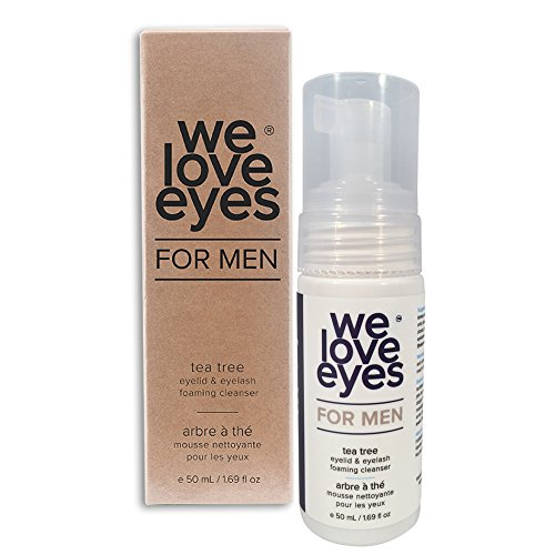 All Natural Tea Tree Eyelid Foaming Cleanser/Wash for MEN - We Love Eyes - Blepharitis, Demodex, Dry Eyes Relief and treatment, Wash Eyes, Reduce Itching and Inflammation for MEN - 50 ml