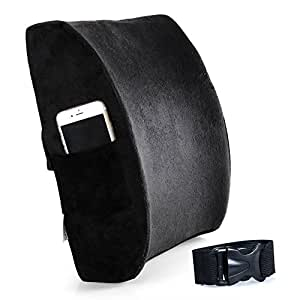 cozy hut ventilated bamboo charcoal infused memory foam lumbar pillow for home. Black Bedroom Furniture Sets. Home Design Ideas