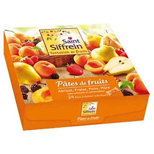Saint Siffrein Gourmet French Fruit Pastes 4 Flavors, 24ct, 25.4oz - French Pate
