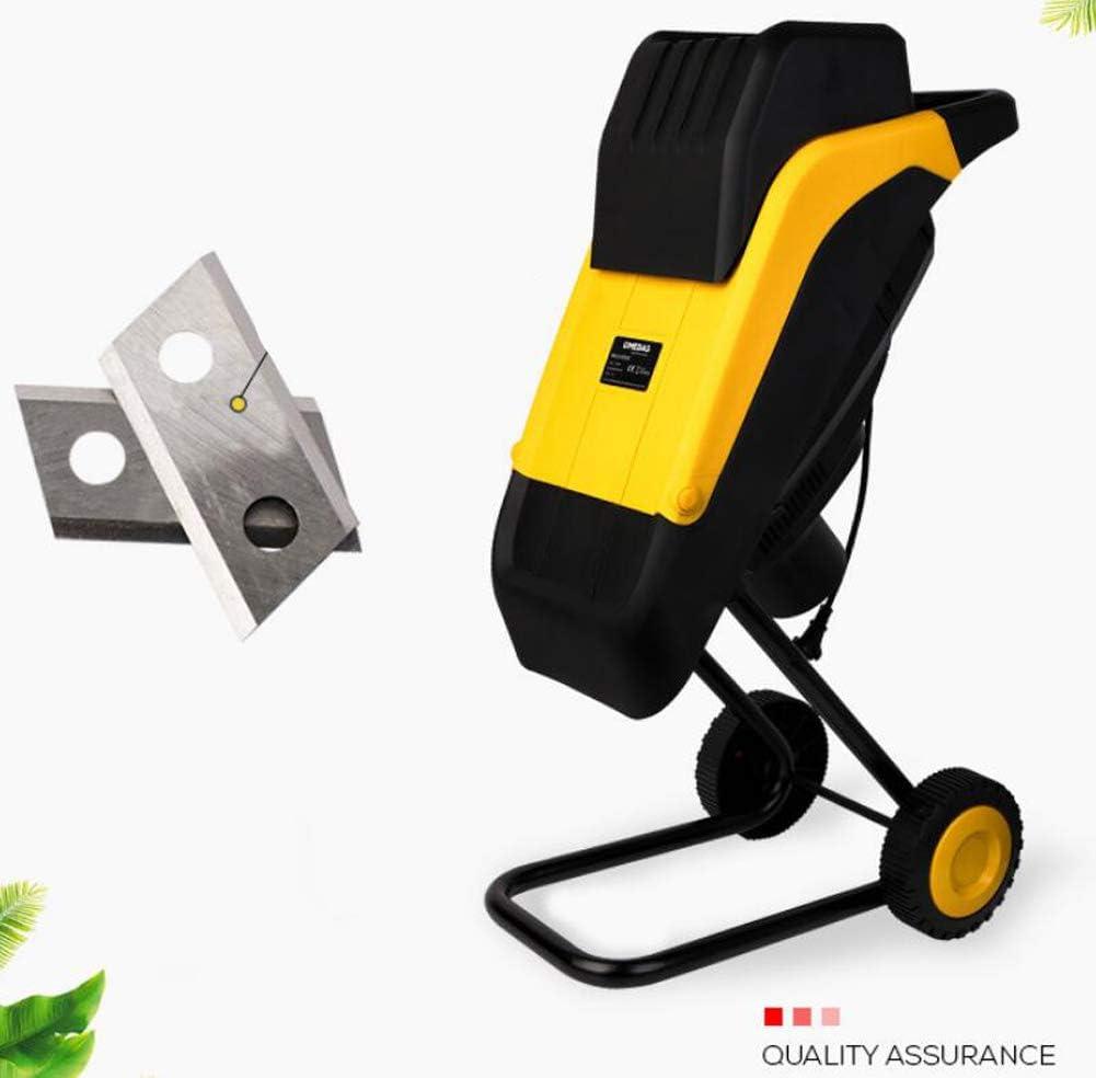 YYSDH 2500W Jardín eléctrico Trituradora Trituradora de Madera Rama Hoja Shredder Trituradora de Hogares eléctrica cortadora de césped,2500W+10 Meter Line: Amazon.es: Deportes y aire libre