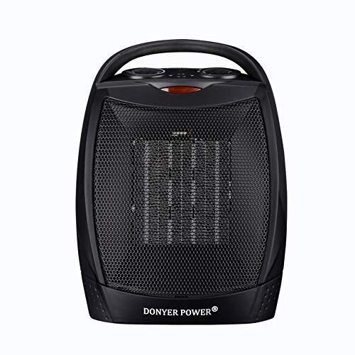 DONYER POWER 750/1500 Watt Portable Space Heaters with Overheat Protection/ETL Listed Calm Ceramic Space Heater with Adjustable Thermostat