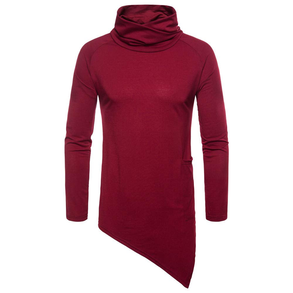 Men's Hoodies, FORUU Fashion Casual Solid Autumn Winter Choker Outwear Tops Sweater Blouse Men's Hoodies ZYH20180830