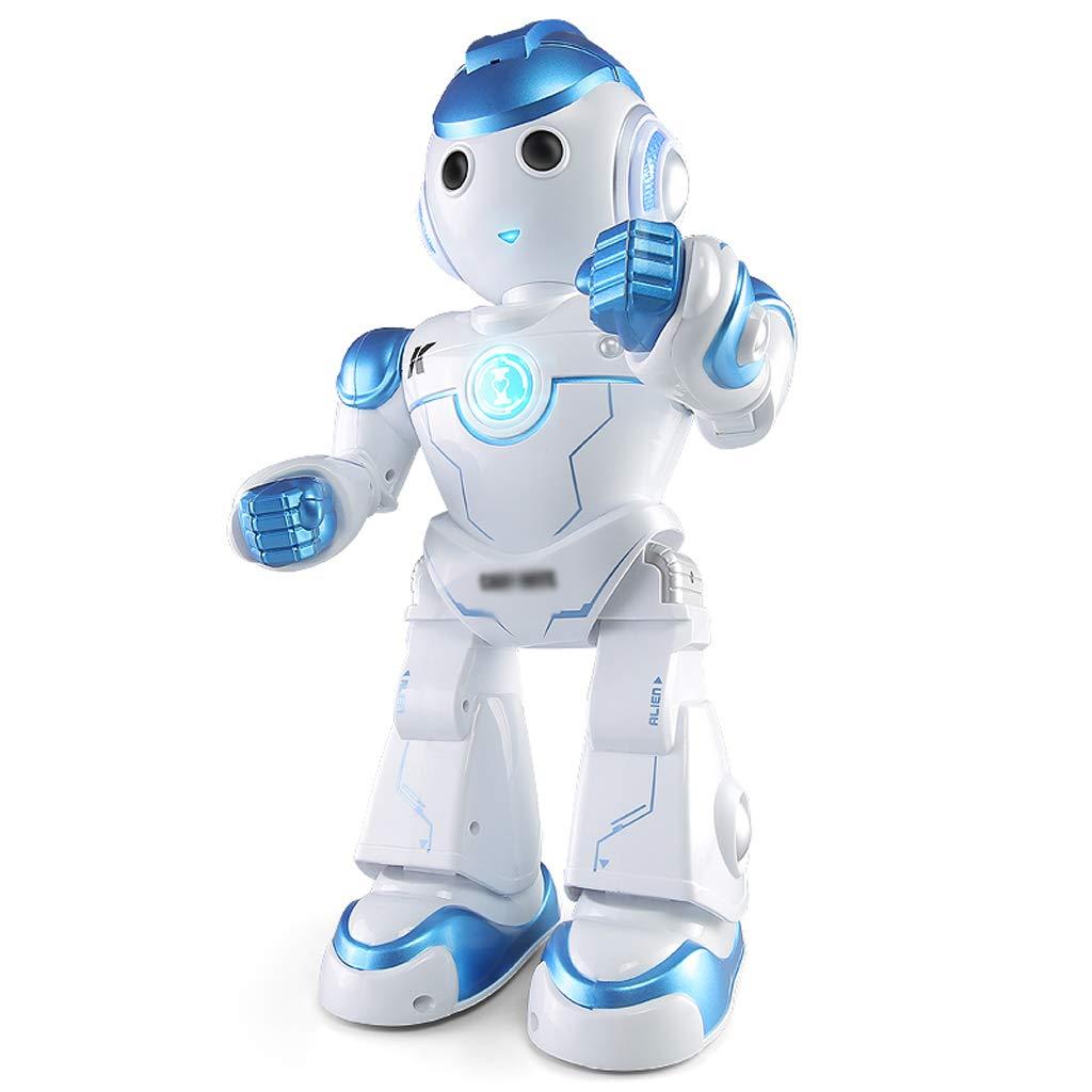 DUWEN Talking Intelligent Robot Intelligent Robot Robot Robot Dialogue Programming Voice Control Remoto para nintilde;os Juguetes para nintilde;os Robot Toys ( Color : Azul ) 04b1a6