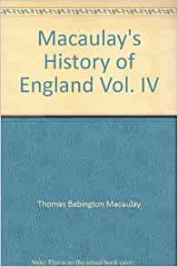 MACAULAY'S HISTORY OF ENGLAND 4 hardcover vols/1856/Vol #1 SIGNED/free shipping
