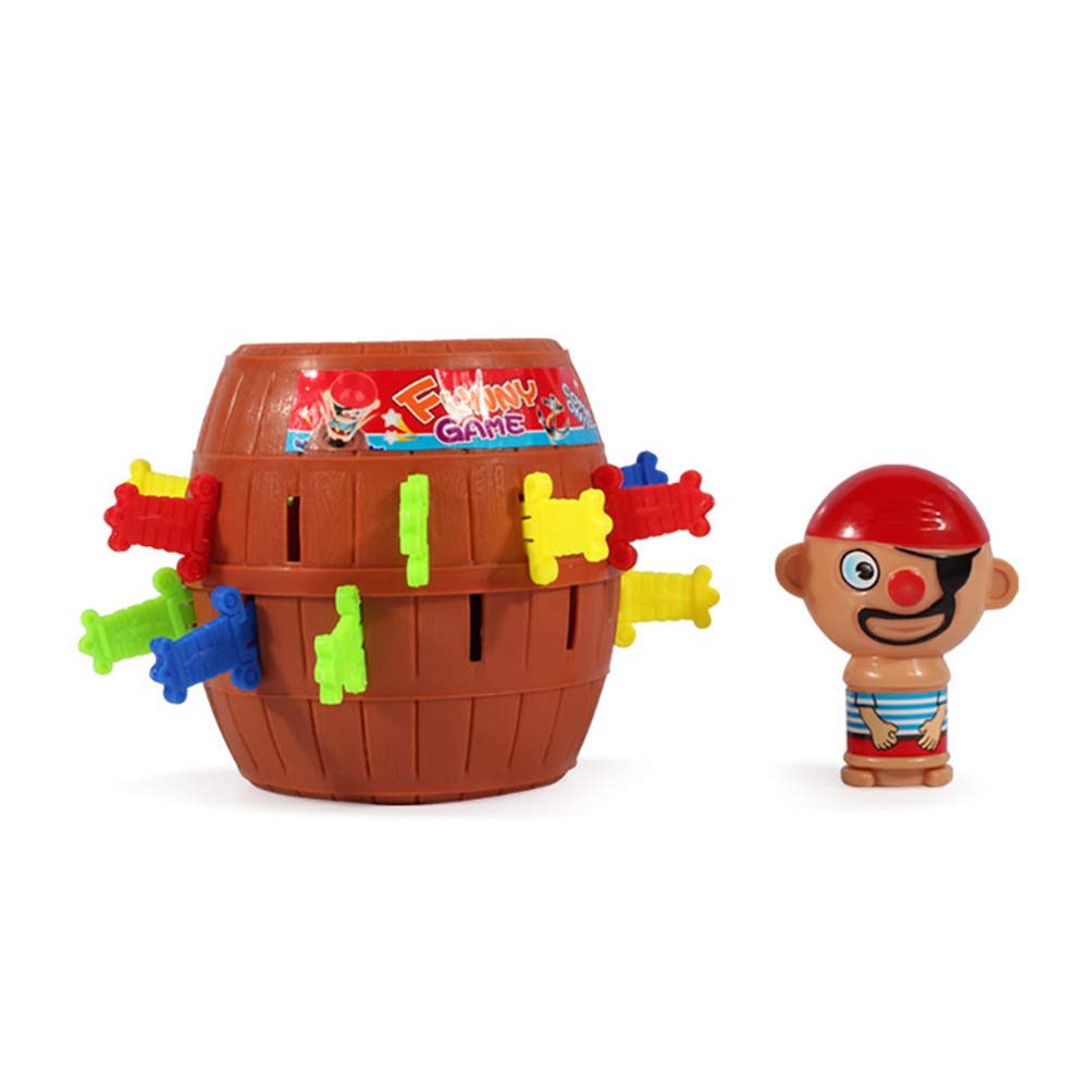 HanYoer Desktop Toys Pirate Bucket for Kids and Adults Lucky Stab Pop Up Game Toys Intellectual Game