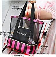 99bd1ac26628 Summer Romance Mesh Beach Bag Tote Bag with Waterproof Insulated ...