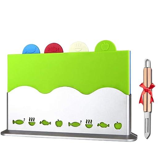 BB&ONE Tabla de cortar de plástico para cocina, tabla de cortar ...