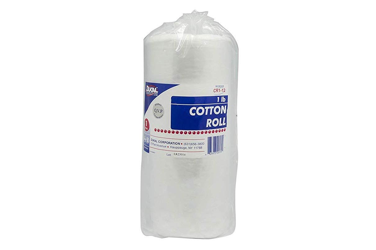 Dukal CR1-12 Cotton Roll, 1 lb. (Pack of 12) by Dukal