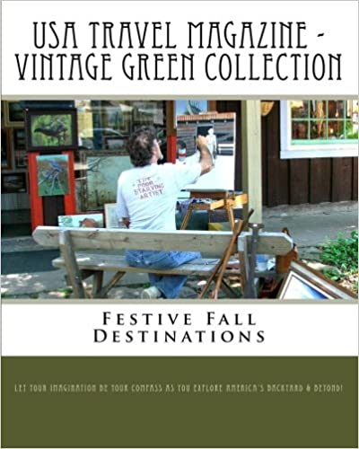 Book USA Travel Magazine - Vintage Green Collection: Festive Fall Destinations