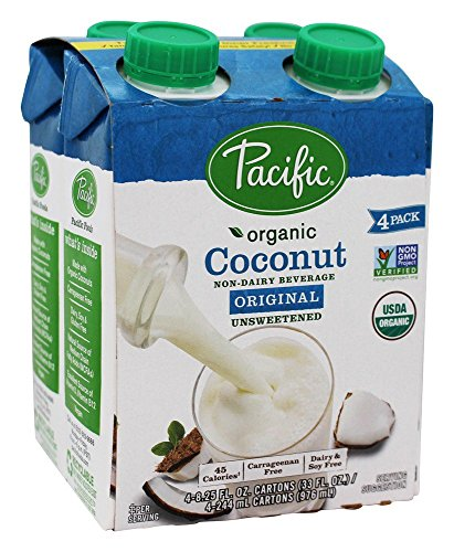 Pacific Foods - Organic Coconut Milk Unsweetened 8 oz. Original - 4 Pack