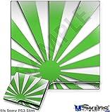 Sony PS3 Slim Skin - Rising Sun Japanese Green